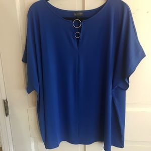 The Limited Cobalt Blouse 2x